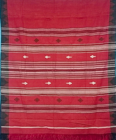 Maroon Natural Dye Handloom Kotpad Cotton Saree