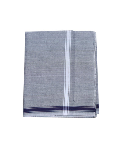 Grey Handwoven Khadi Cotton Dhoti