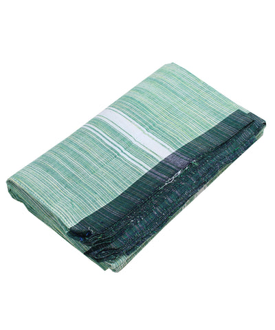 Handwoven Green Khadi Cotton Dhoti