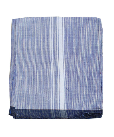Handwoven Navy Blue Khadi Cotton Dhoti