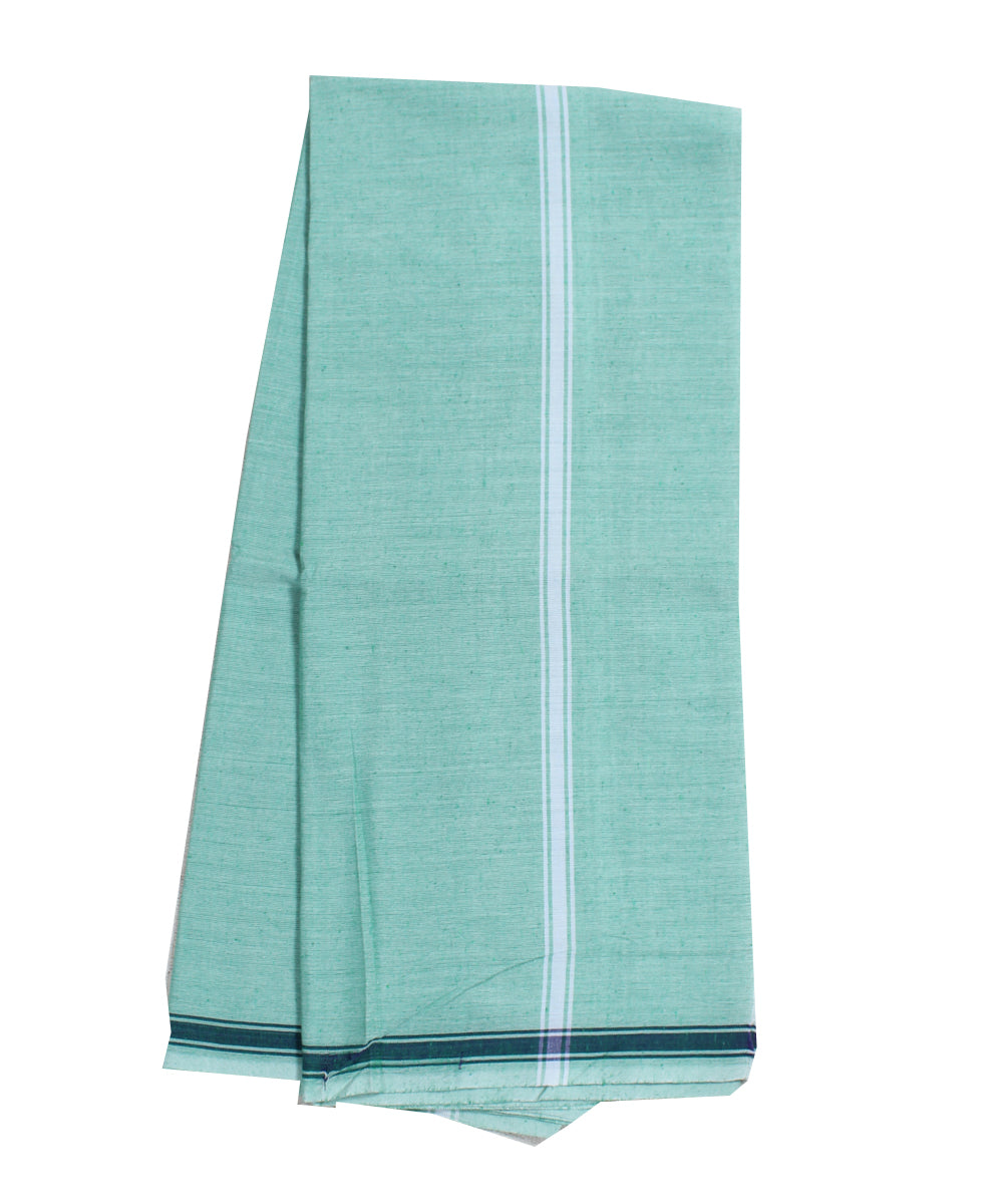 Handwoven Light Green Khadi Cotton Dhoti