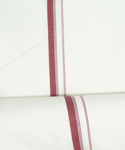 Handloom White with Brown Single Cotton Dhoti
