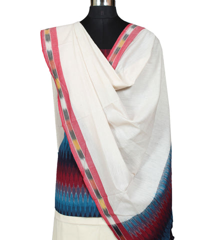 Multicolor Ikat Handloom Cotton Suit Material