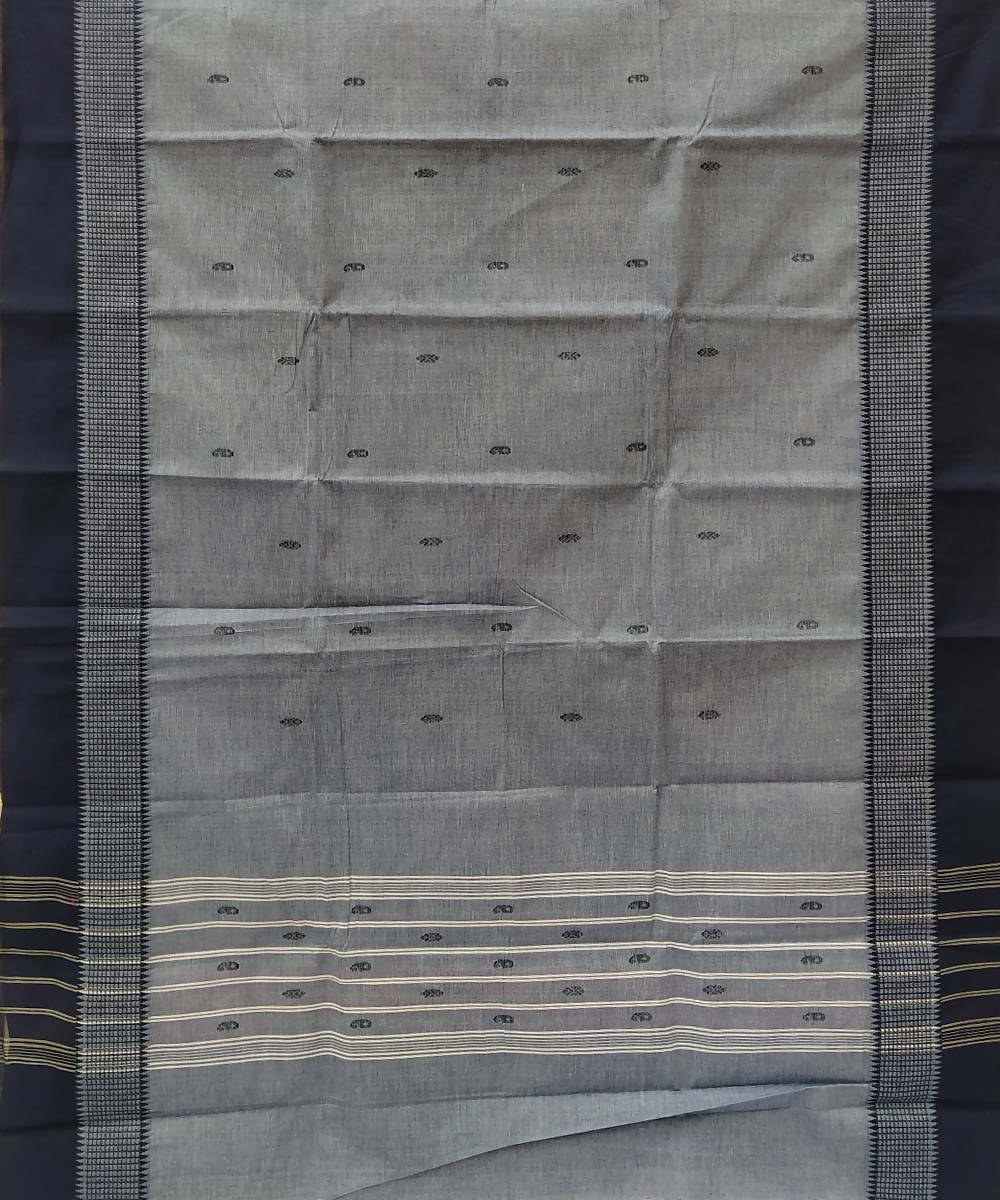 Grey handloom tamil nadu cotton saree