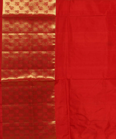 Orange Yellow Khadi Handloom Silk Saree