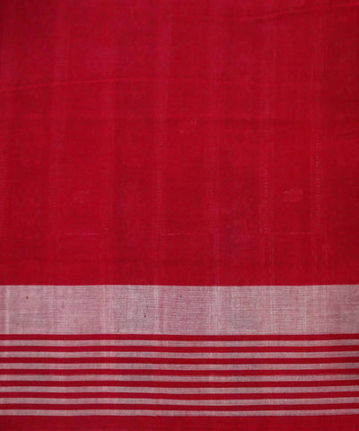 Bottle Green Bomkai Cotton handloom Saree