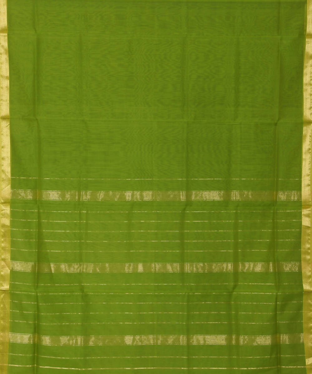Maheshwari Pear Green Handloom Sico Saree