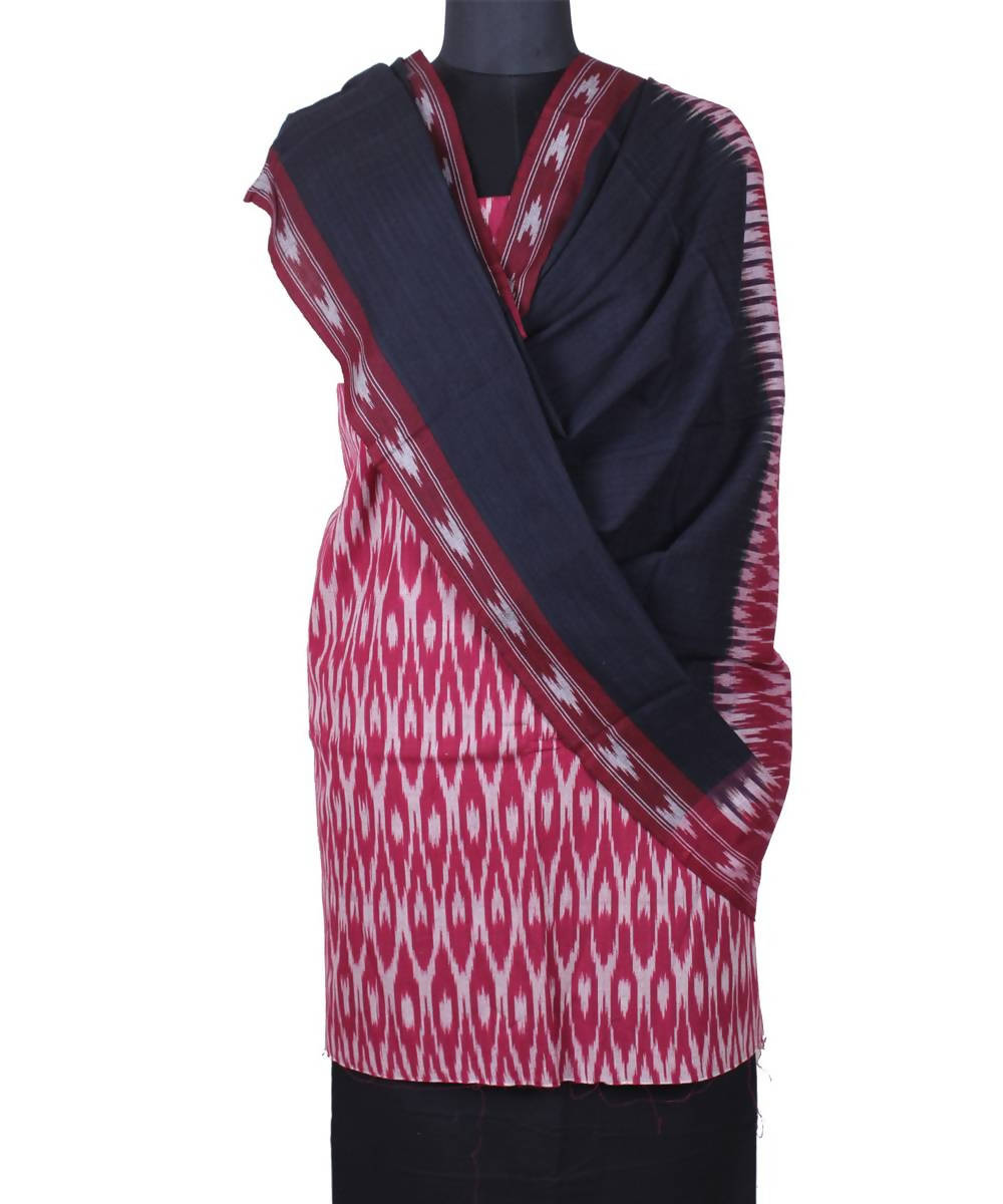 Handloom magenta pochampally Ikat cotton suit