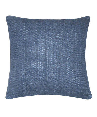 Tussar Denim Blue Color Cushion Cover