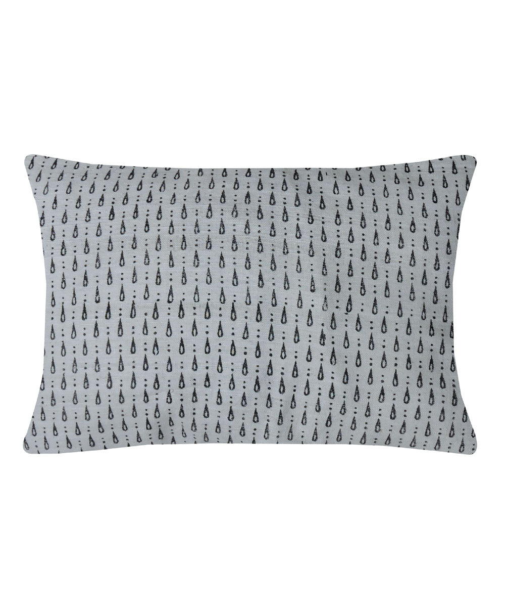 Eri Silk Pewter Grey Color Pillow Cover