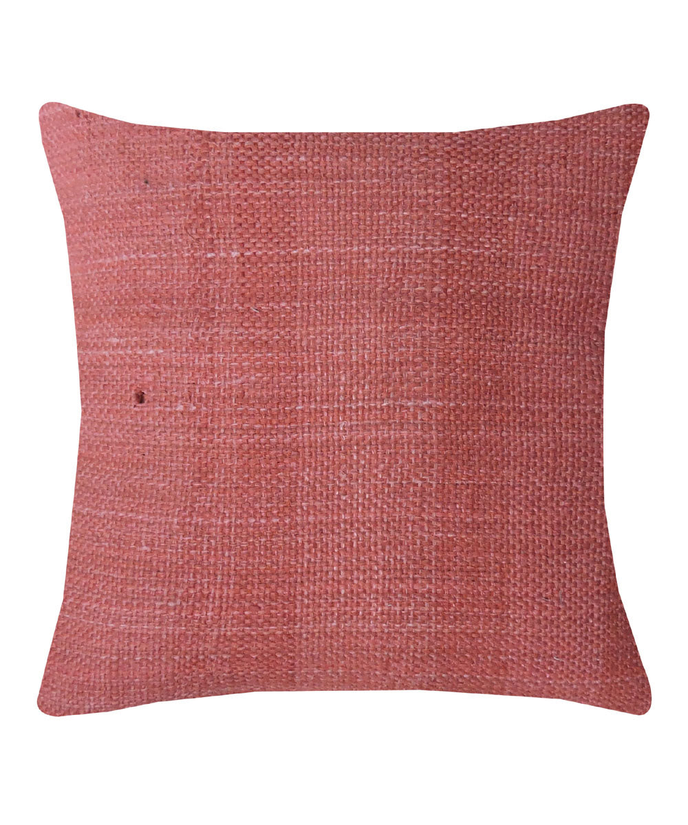Tussar Silk Rosewood Color Cushion Cover