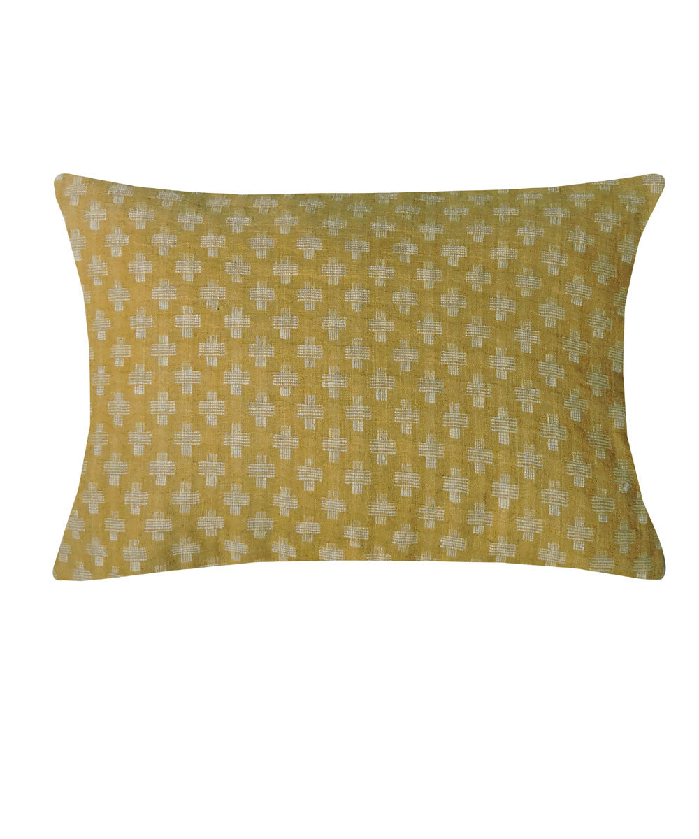 Eri Silk Olive Green Color Pillow Cover