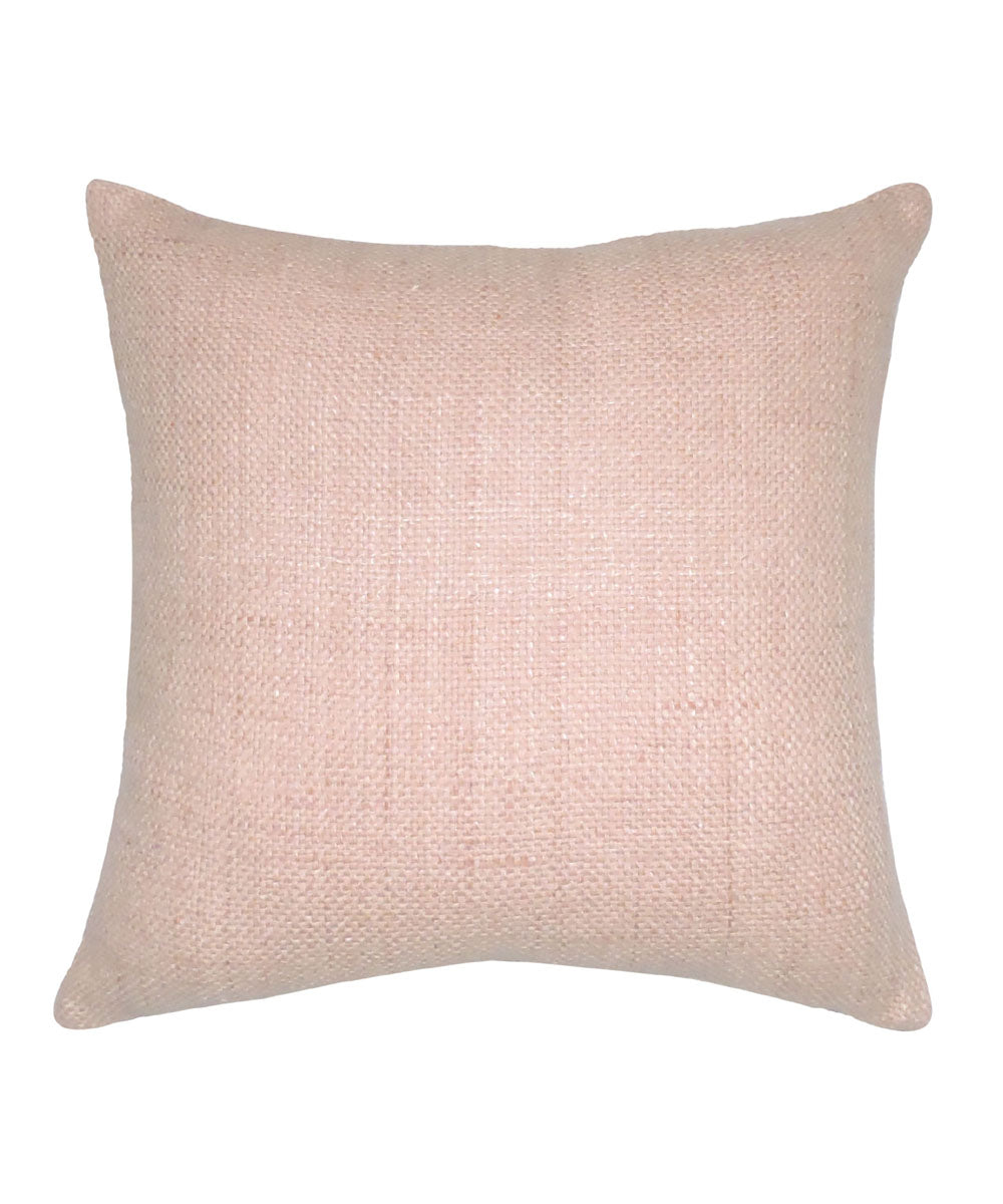 Tussar Silk Baby pink Color Cushion Cover