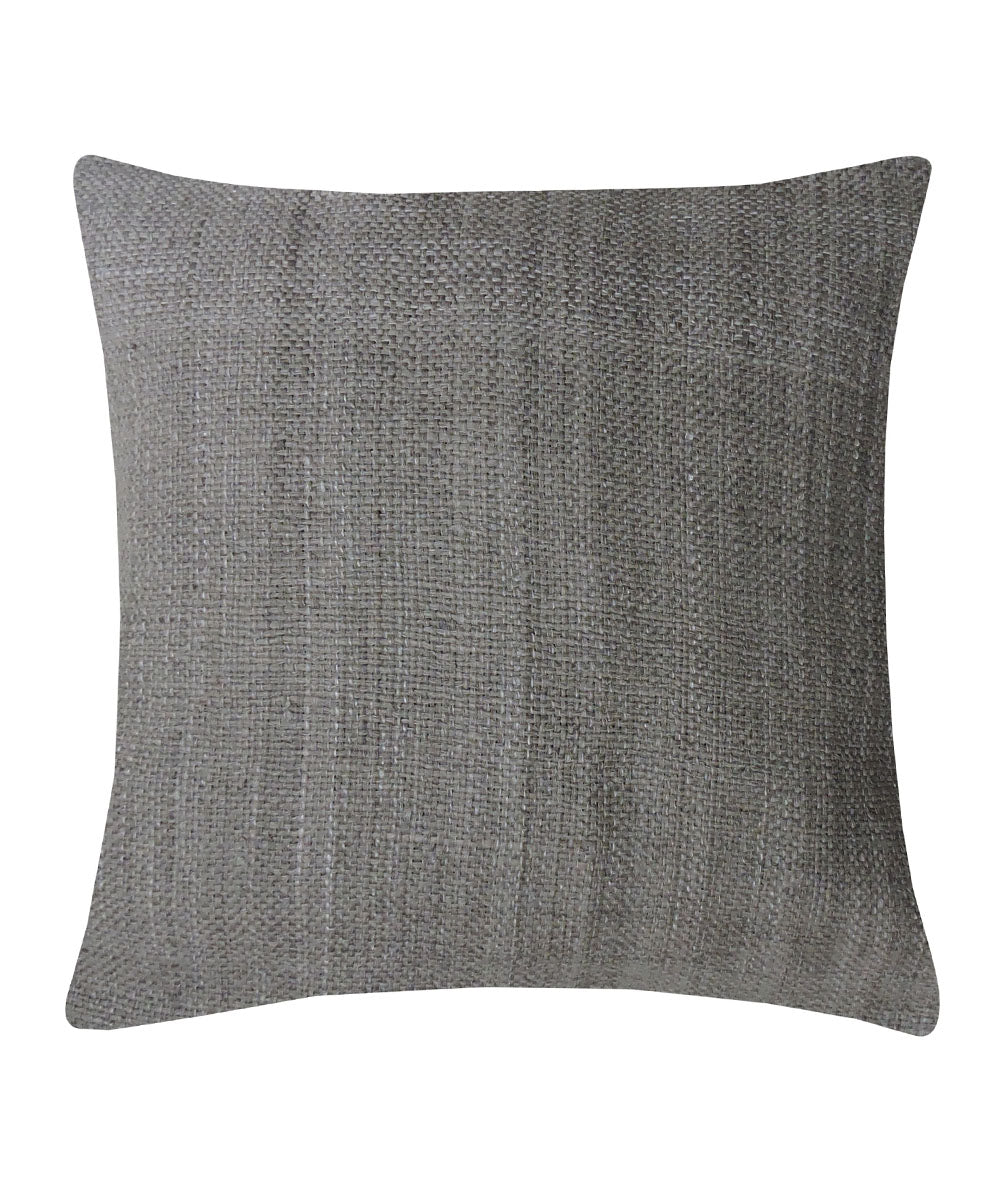 Tussar Silk Anchor Grey Color Cushion Cover