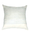 Tussar Silk Off White Blue Color Cushion Cover