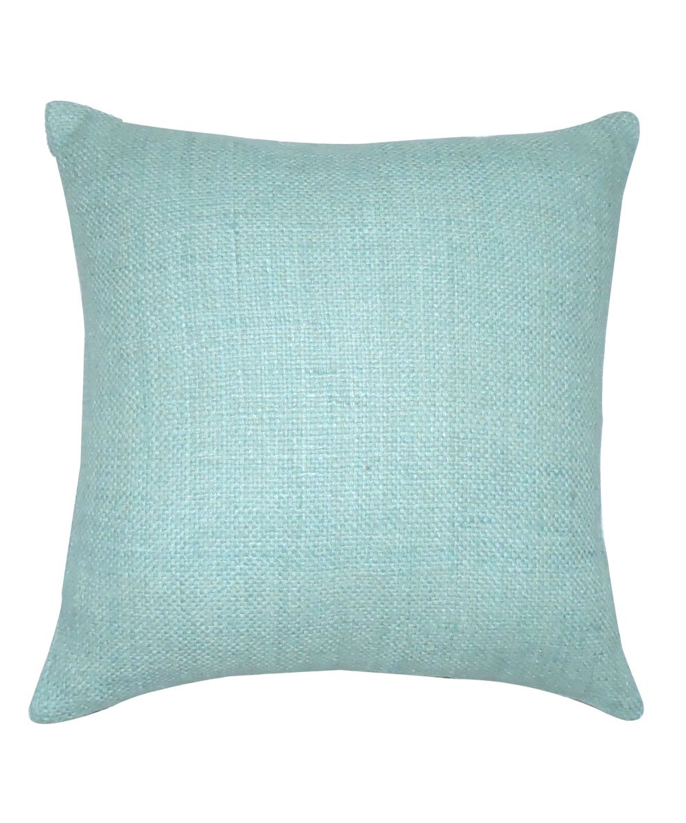 Tussar Silk Teal Blue Color Cushion Cover