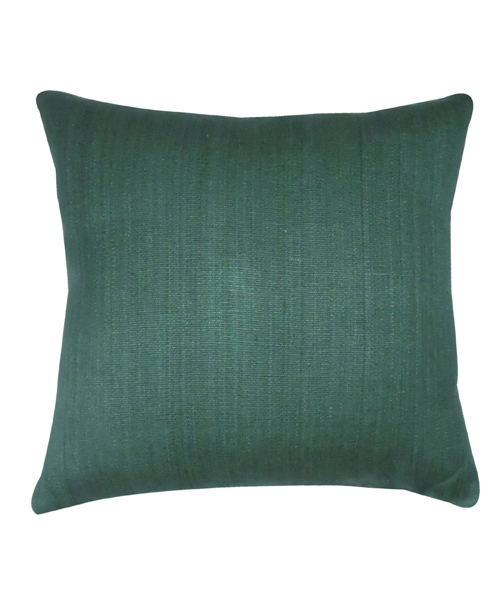 Eri Silk Teal Green Color Cushion Cover