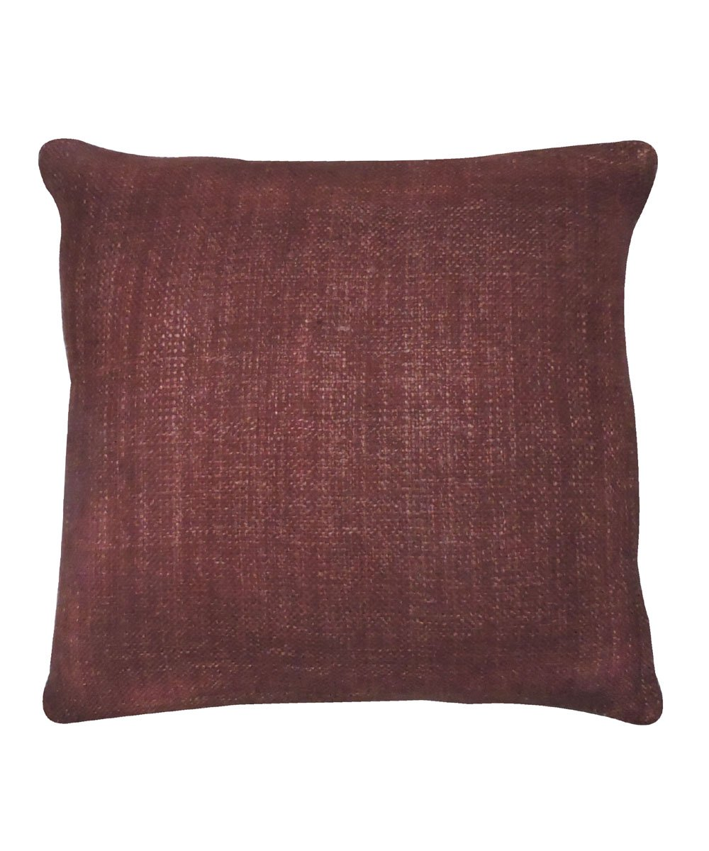 Tussar Silk Copper Brown Color Cushion Cover
