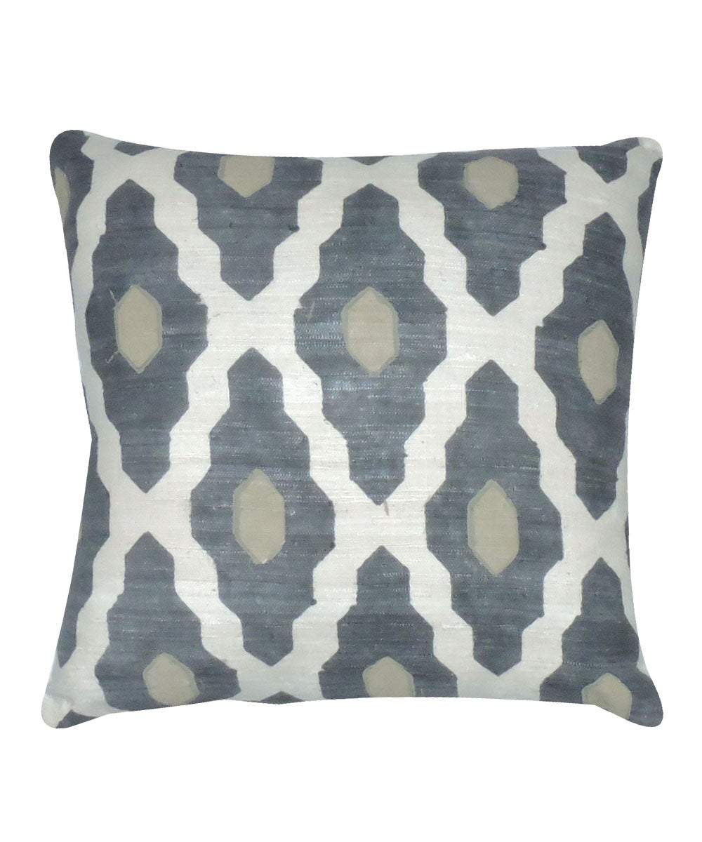 Eri Silk Slate Grey Color Cushion Cover