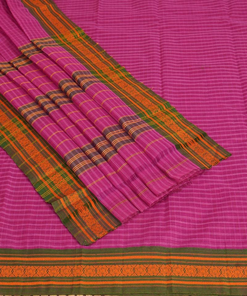 Purple Handloom Narayanpet Cotton Saree