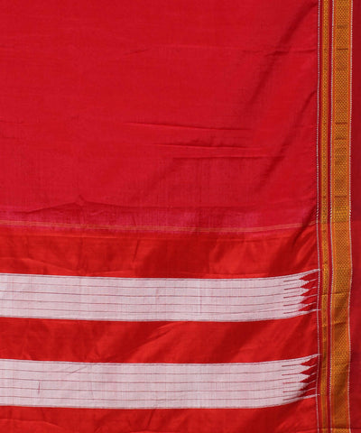 Red Handloom Ilkal Saree