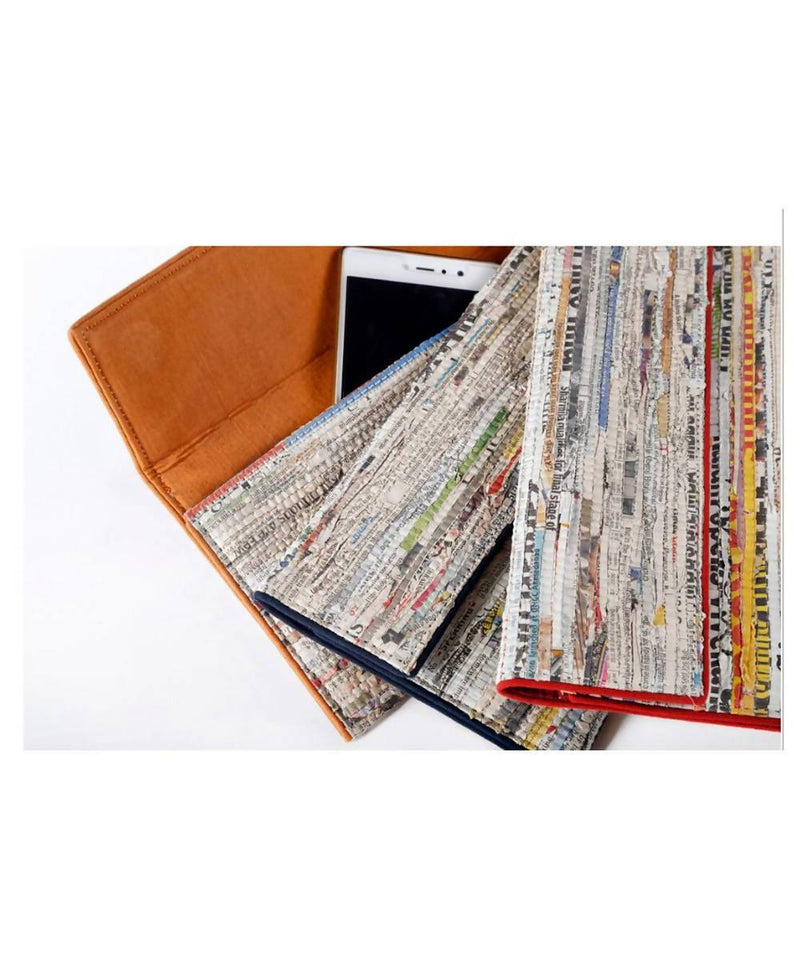 Newspaper Handmade Cotton Clutch