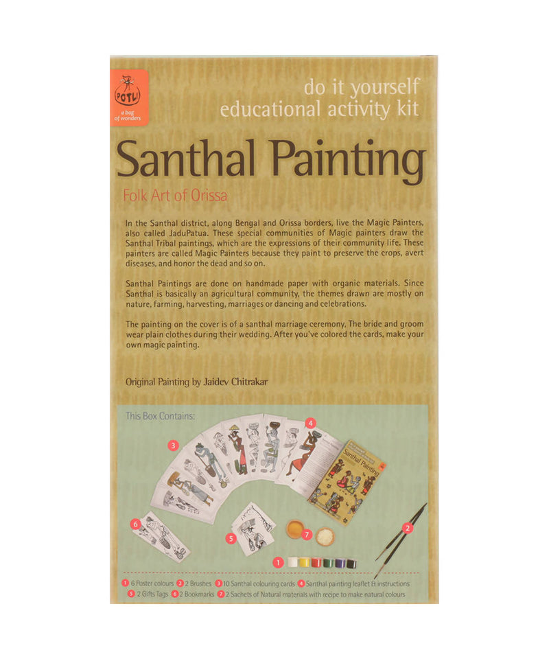 Handmade DIY Educational Colouring Kit Santhal Painting of Odisha