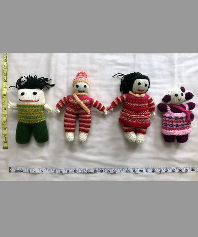 Woollen Hand Knitted Stuffed Toys (Gudda Guddi) Set of 4
