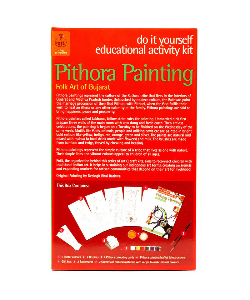 Handmade DIY Educational Colouring Kit Pithora Painting of Gujarat