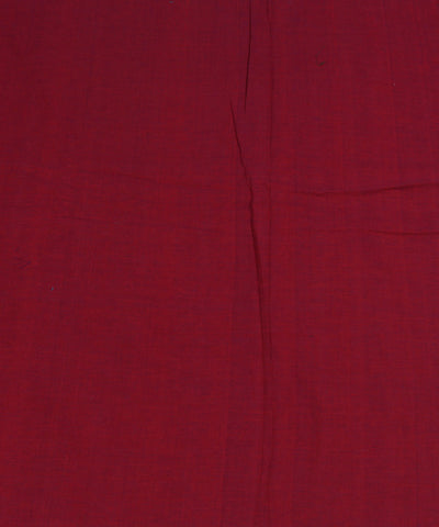 Handloom Red Blue Double Shaded Cotton Fabric