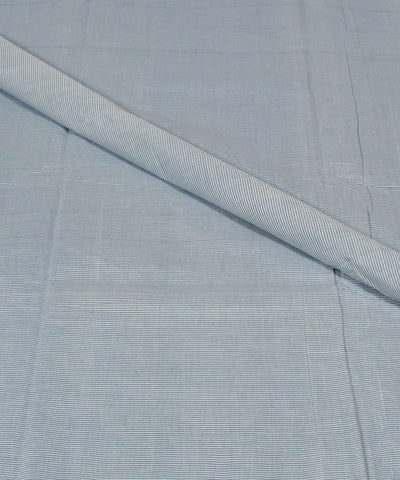 Handloom Blue Stripe Mangalgiri Cotton Fabric