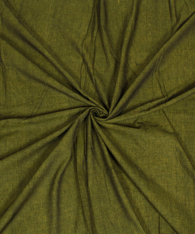 Reversible Lime Black Handloom Cotton Fabric