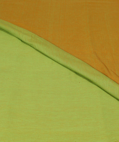 Reversible Yellow Lime Handloom Cotton Fabric