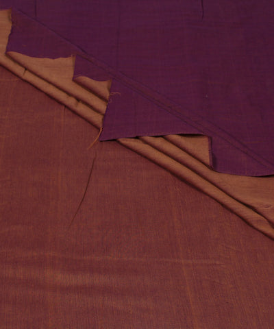 Reversible Purple Peach Handloom Fabric