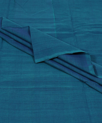 Blue Green Handloom Mangalagiri Cotton Fabric
