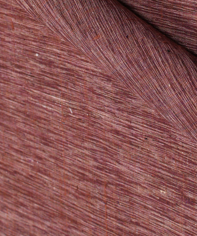 Khadi Nation Dark Brown Khadi Cotton Fabric