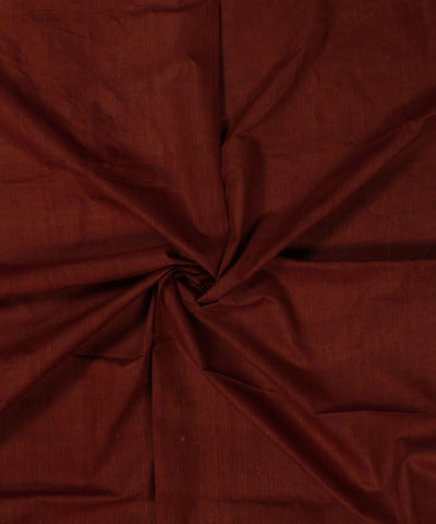 Khadi Nation Maroon Brown Khadi Cotton Fabric