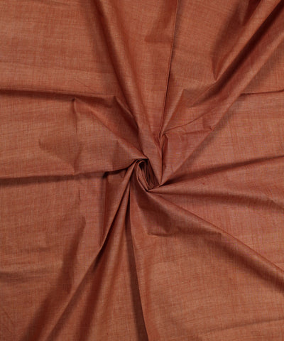Handloom Light Brown Handspun Cotton Fabric