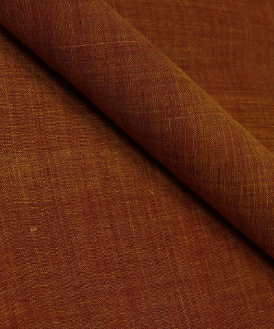 Brown and Yellow Khadi Cotton Fabric