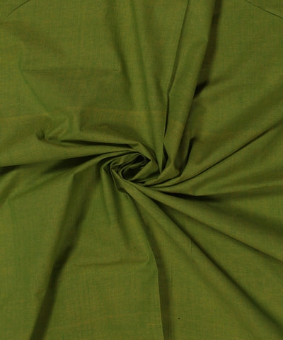 Green and Yellow Muslin Khadi Cotton Fabric