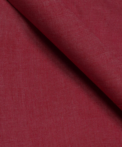 White and Magenta Khadi Cotton Fabric