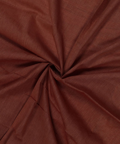 Brown Khadi Handwoven Cotton Fabric