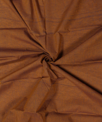 Light Brown Handloom Handspun Cotton Fabric