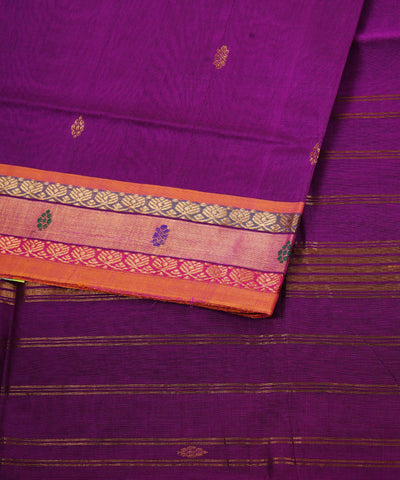 Handloom Purple Venkatagiri Cotton Saree