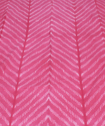 Shibori Printed Pink Cotton Kurta Fabric