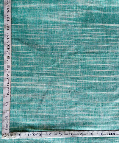 green white handspun handwoven yarn dyed cotton fabric (10m per quantity)