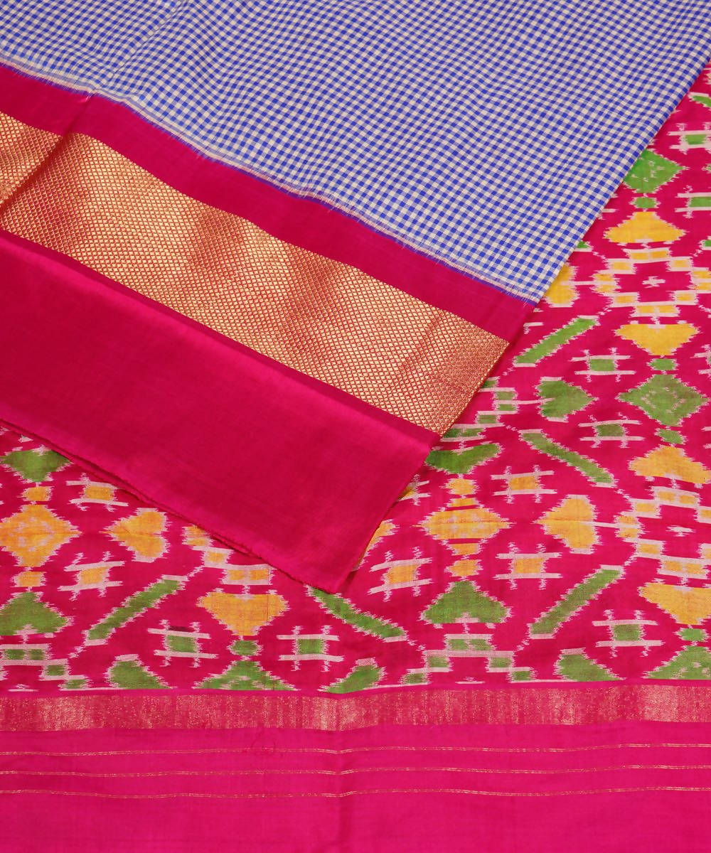 Lavender Pink Handloom Pochampally Silk Saree
