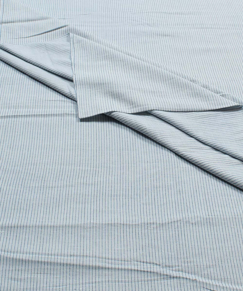 Blue White Stripe Handspun Handloom Fabric