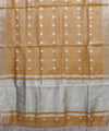 Light Brown Linen Handloom Saree