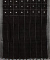 Black Checks Handloom Linen Saree